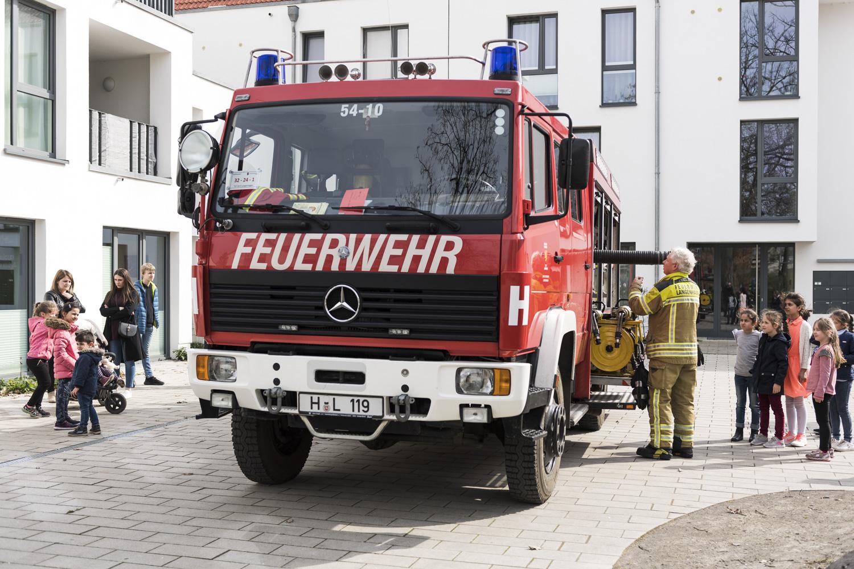 Die Feuerwehr zu Gast im Leseclub